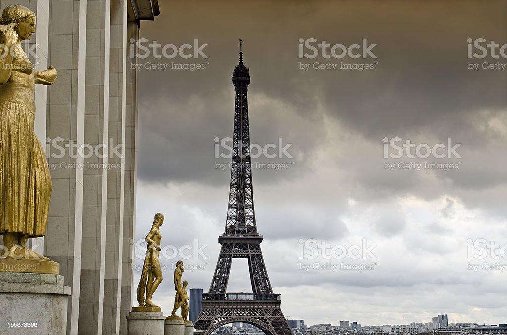 Eiffel Tower , Trocadero, Paris royalty-free stock photo