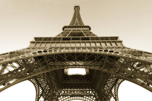 Eiffel Tower, vintage. stock photo