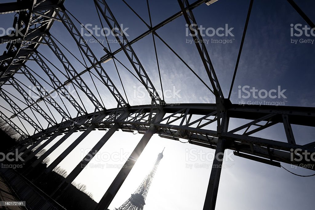 Eiffel Tower's view from the bridge royalty-free stock photo