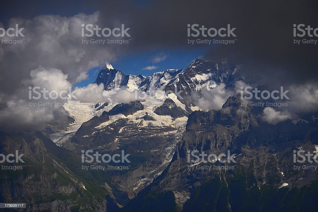 Eiger and Wetterhorn royalty-free stock photo