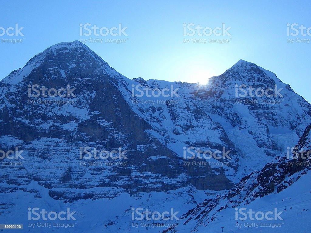 Eiger before sunrise royalty-free stock photo