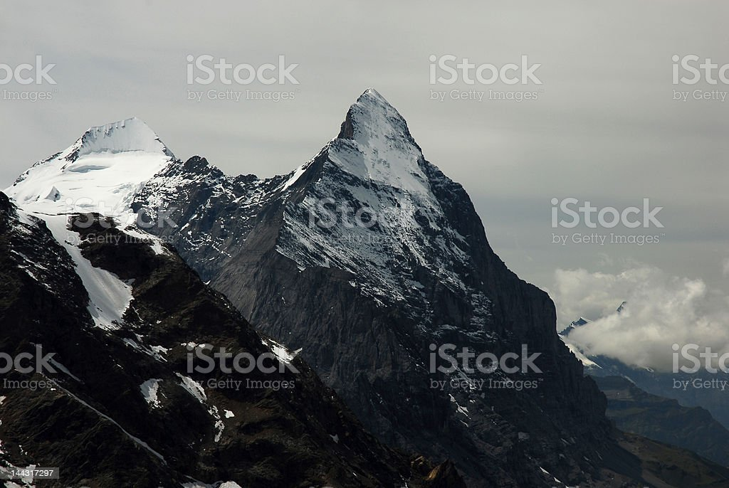 Eiger in fog royalty-free stock photo