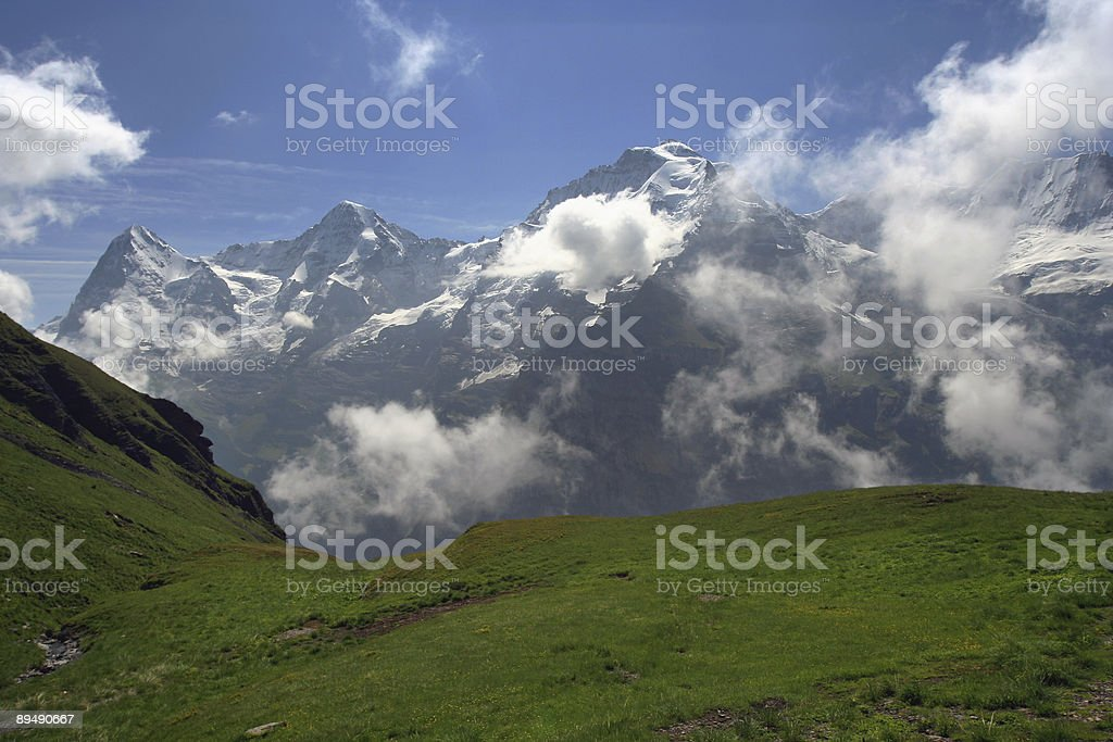 Eiger, Mönch, and Jungfrau royalty-free stock photo