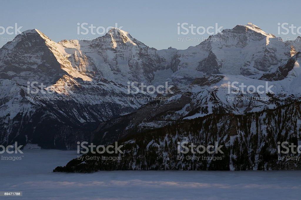 Eiger, Moench, Jungfrau. royalty-free stock photo