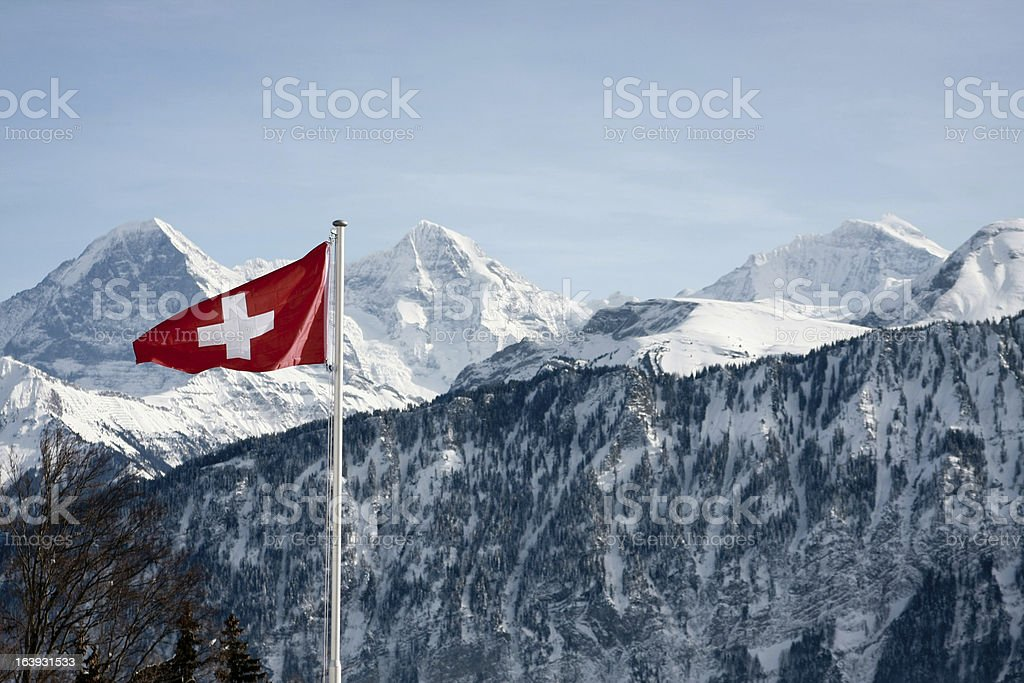 Eiger Monch and Jungfrau royalty-free stock photo