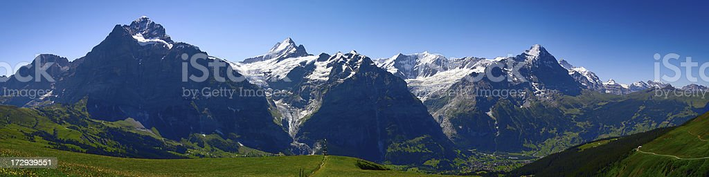 Eiger, Monch and Jungfrau stock photo