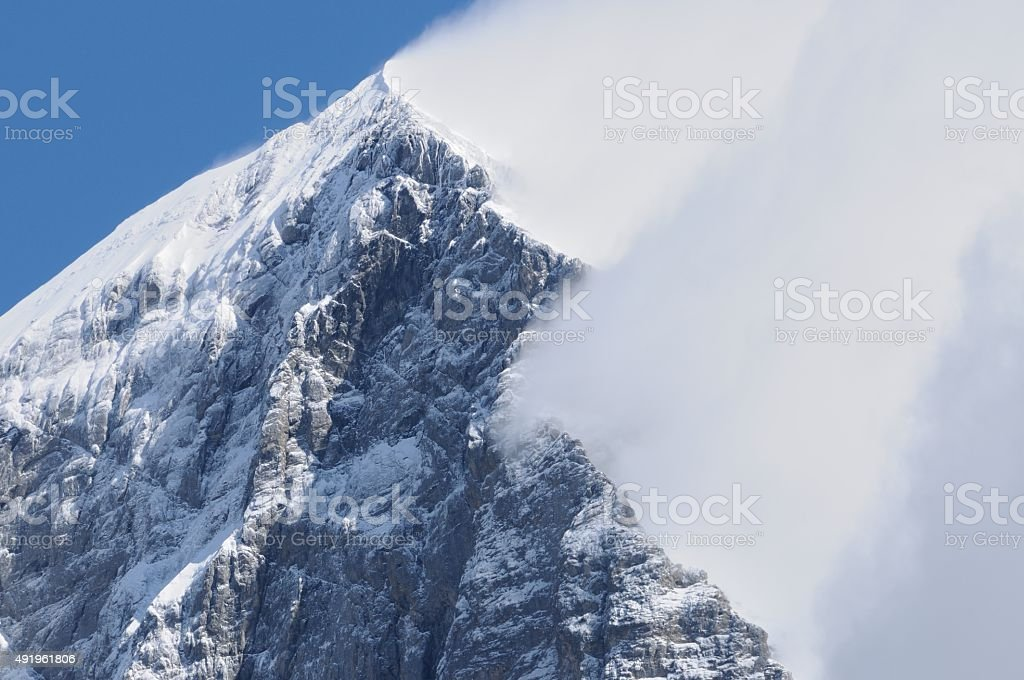 Eiger mountain in the Jungfrau region stock photo