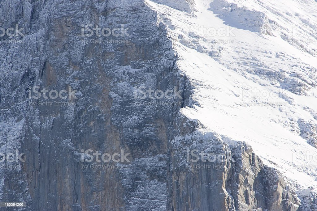 Eiger North Face Detail royalty-free stock photo
