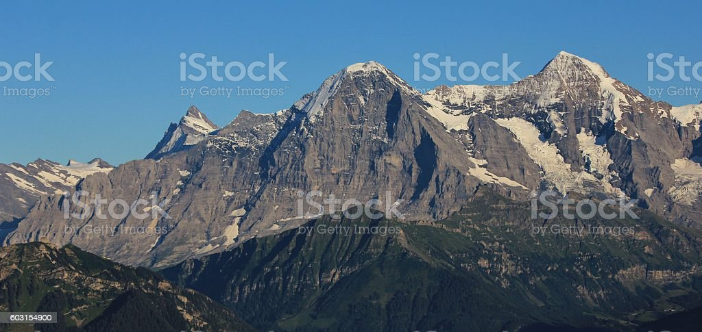Eiger North Face, view from Mt Niederhorn stock photo