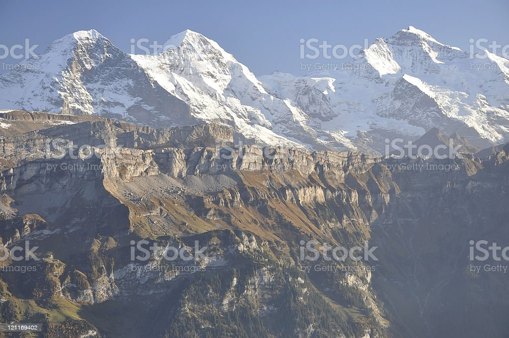 Eiger-Monch-Jungfrau royalty-free stock photo