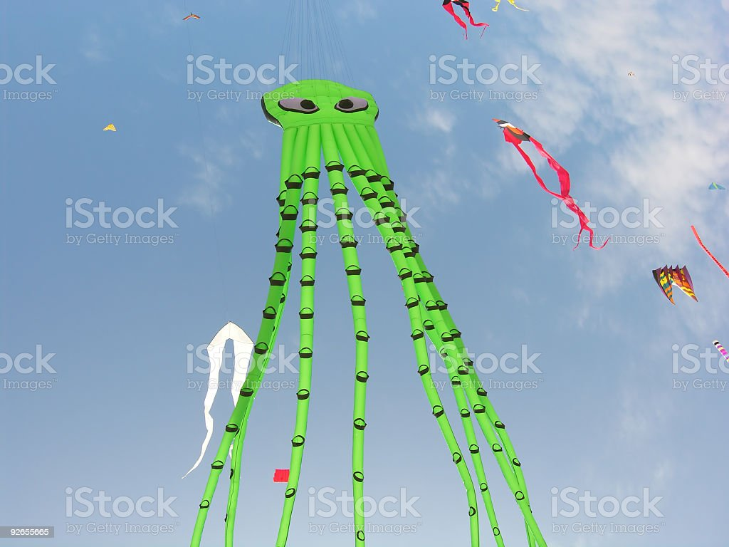 Eight Arms Flying royalty-free stock photo
