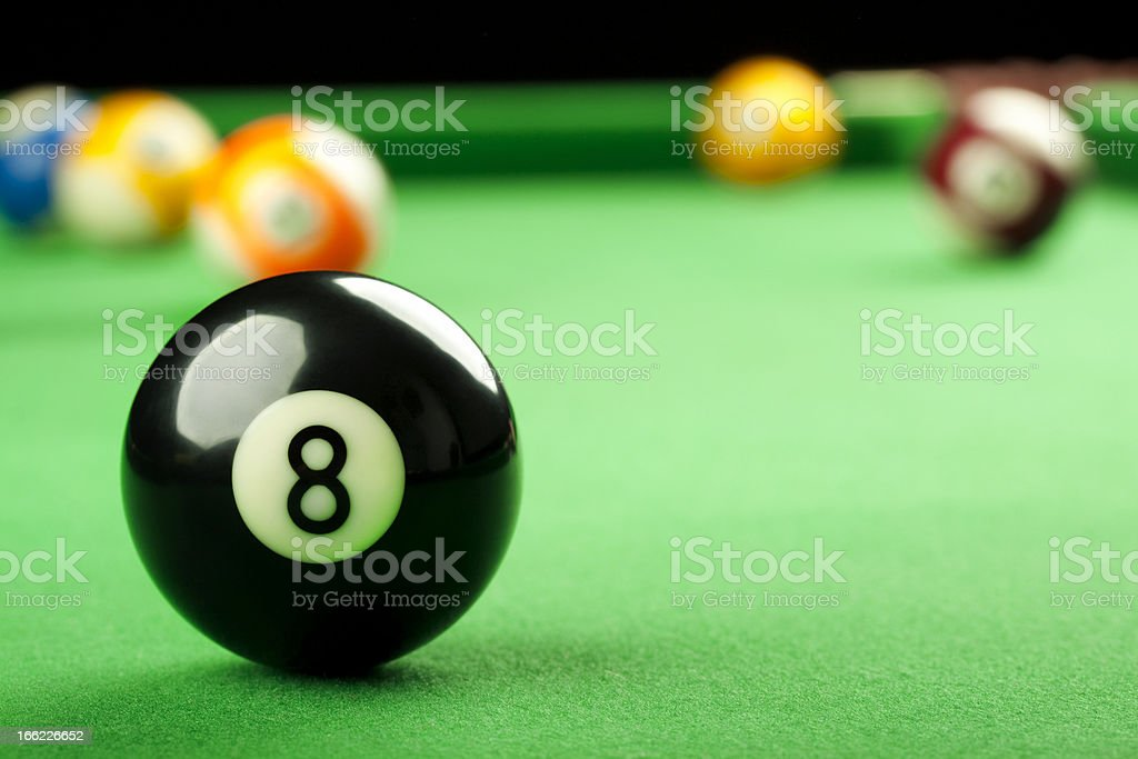 Eight Ball on Pool Table royalty-free stock photo