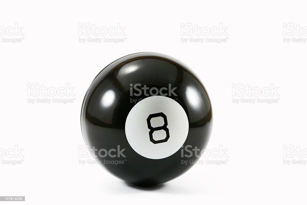 eight ball on white stock photo