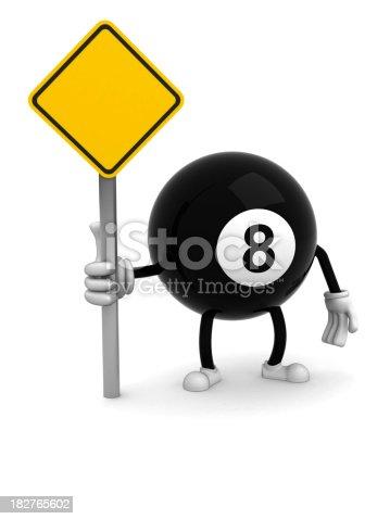 Eight ball isolated on white backgroundhttp://www.tawhy.hekko.pl/istocklightbox-billiard.jpg