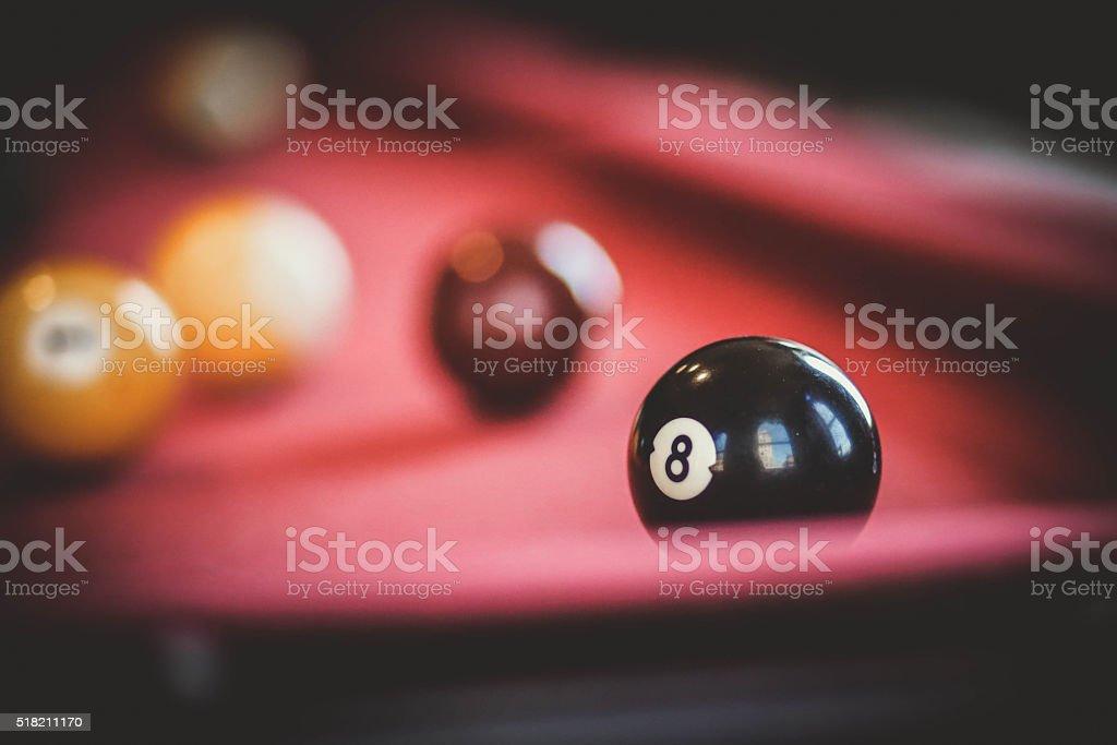 Eight ball stock photo