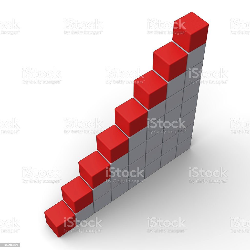Eight Blank Steps Show Copy Space For 8 Letter Word stock photo