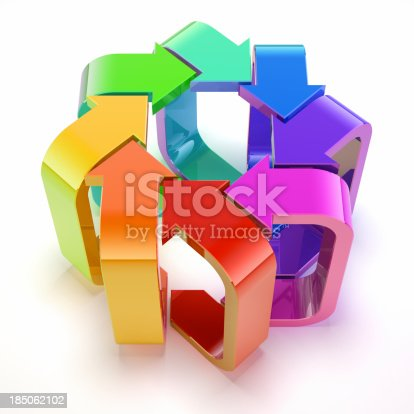 688372024istockphoto Eight colourful arrows. 185062102
