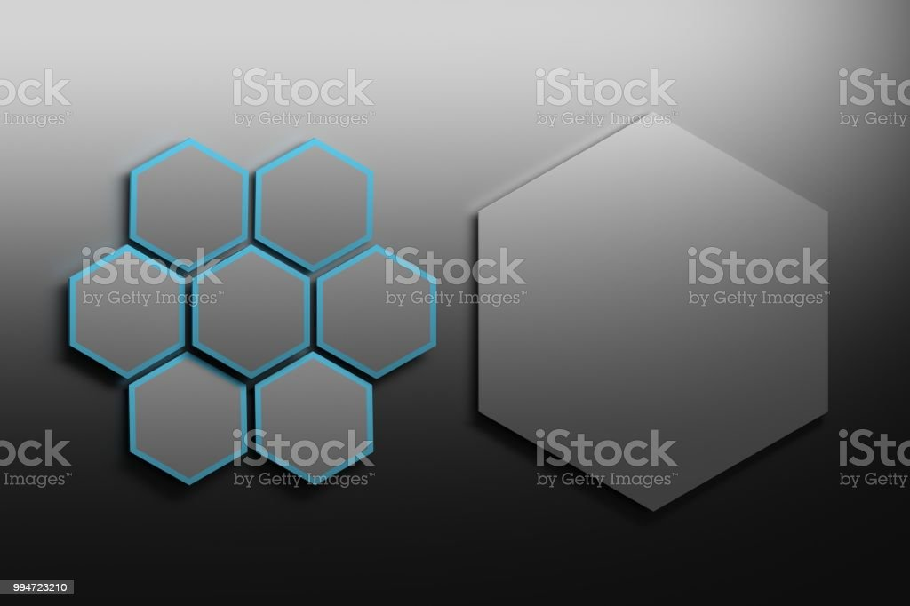 Eight hexagons stock photo