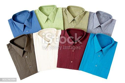 istock Eight Men's Shirts 500260095