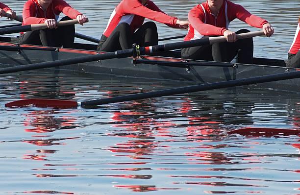 Eight Oar Sweep Boat Team stock photo