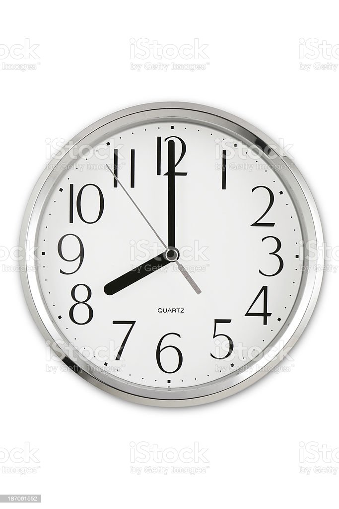 Eight O'clock stock photo