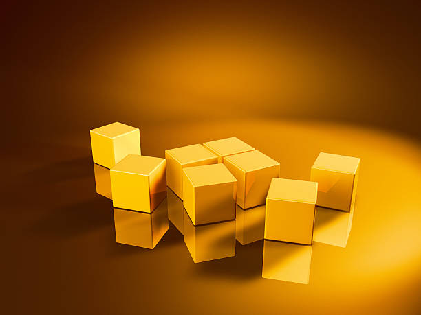 Eight Orderless Golden Cubes 3D Render of eight orderless golden cubes. Very high resolution available! Concept image for change/rearrangement. Use it for Your own composings!Related images: golden cube stock pictures, royalty-free photos & images