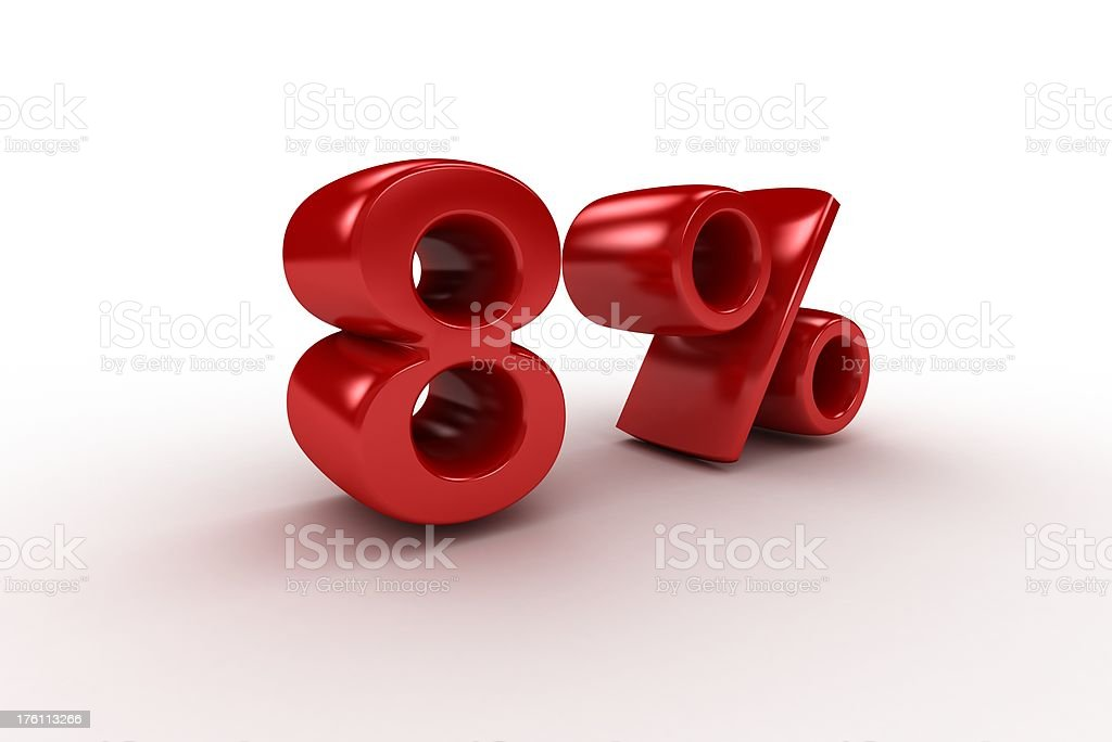 Eight Percent royalty-free stock photo