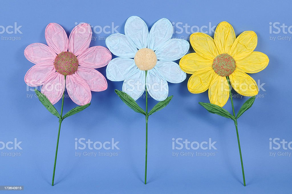 Eight petals paper flowers royalty-free stock photo