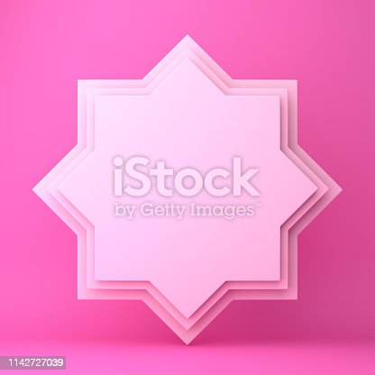 1142727715istockphoto Eight point star paper cut on pink pastel background. 1142727039