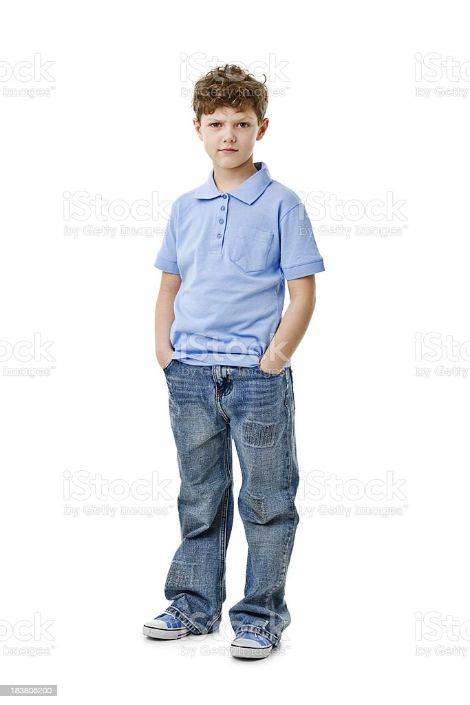eight years old boy stock photo