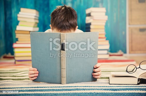 683105722 istock photo eight years old child reading a book 907958448