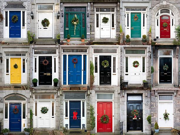 Diciotto porte di Natale - foto stock