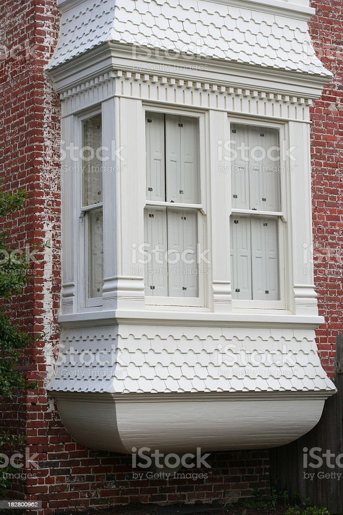 Eighteenth century bay window stock photo