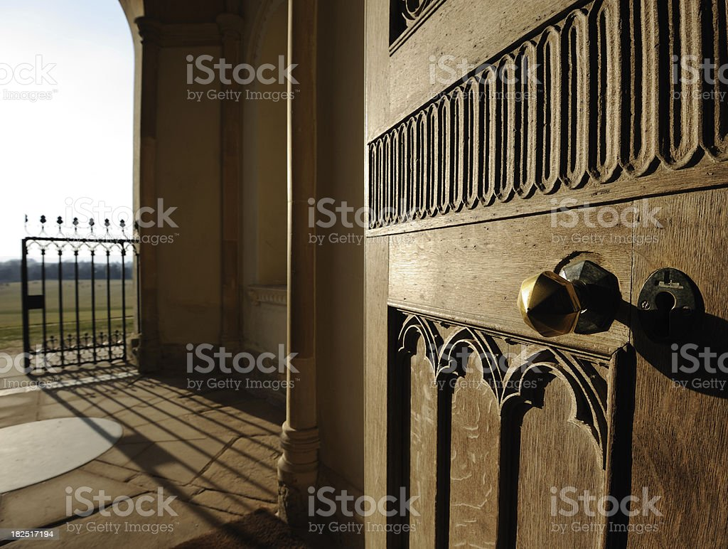 Eighteenth century doorway and entrance royalty-free stock photo
