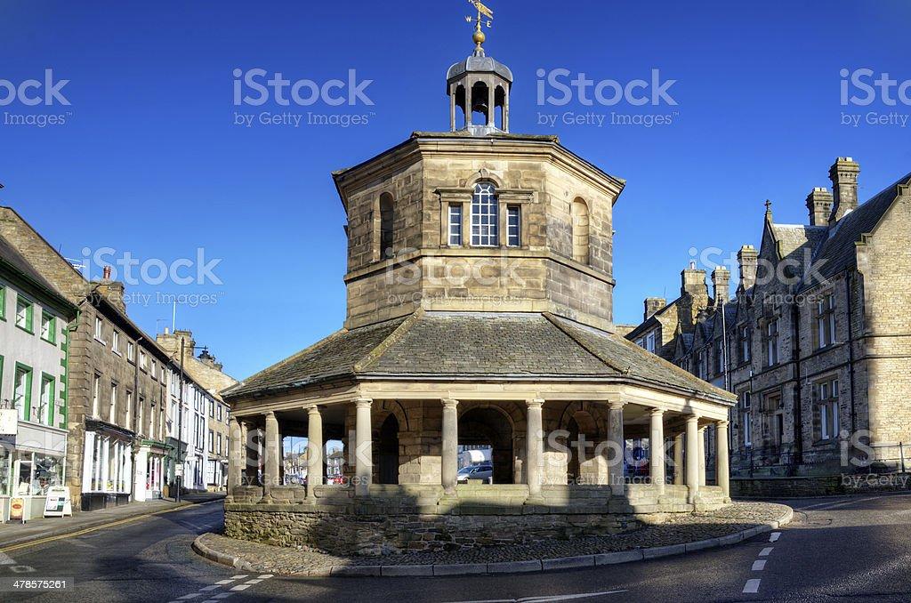 Eighteenth Century Market Cross, Barnard Castle stock photo