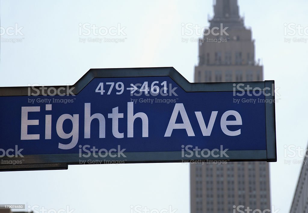 Eighth Avenue in NYC stock photo
