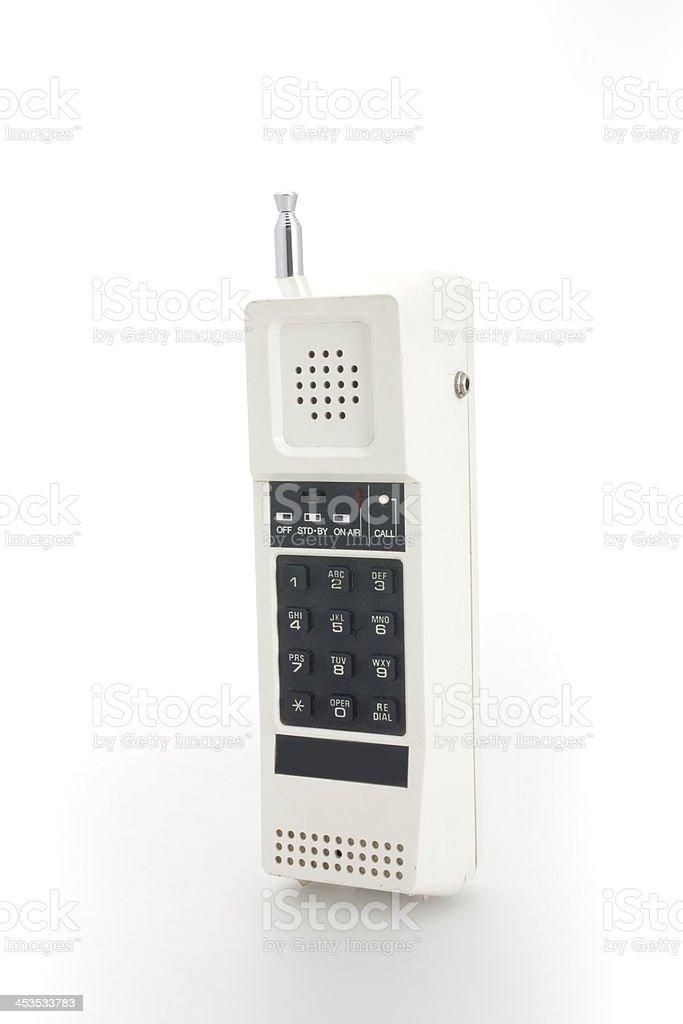 Eighties cordless telephone stock photo