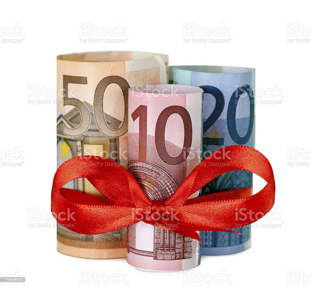 80 euro mit einem roten Band – Foto