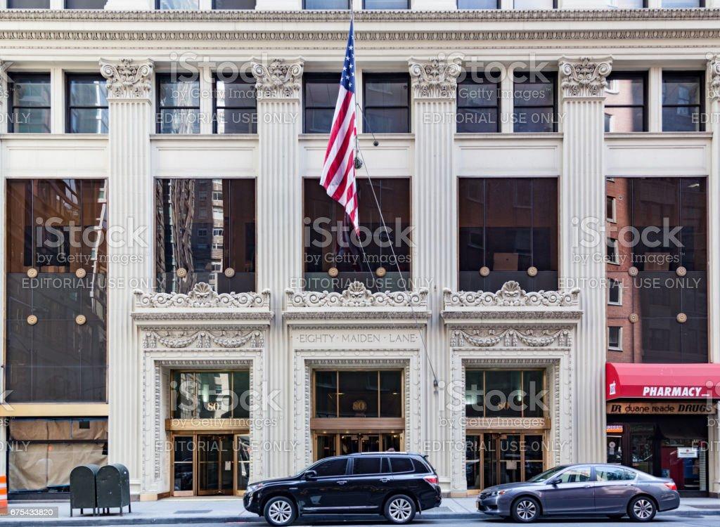 Quatre-vingts Maiden Lane Building New York City photo libre de droits