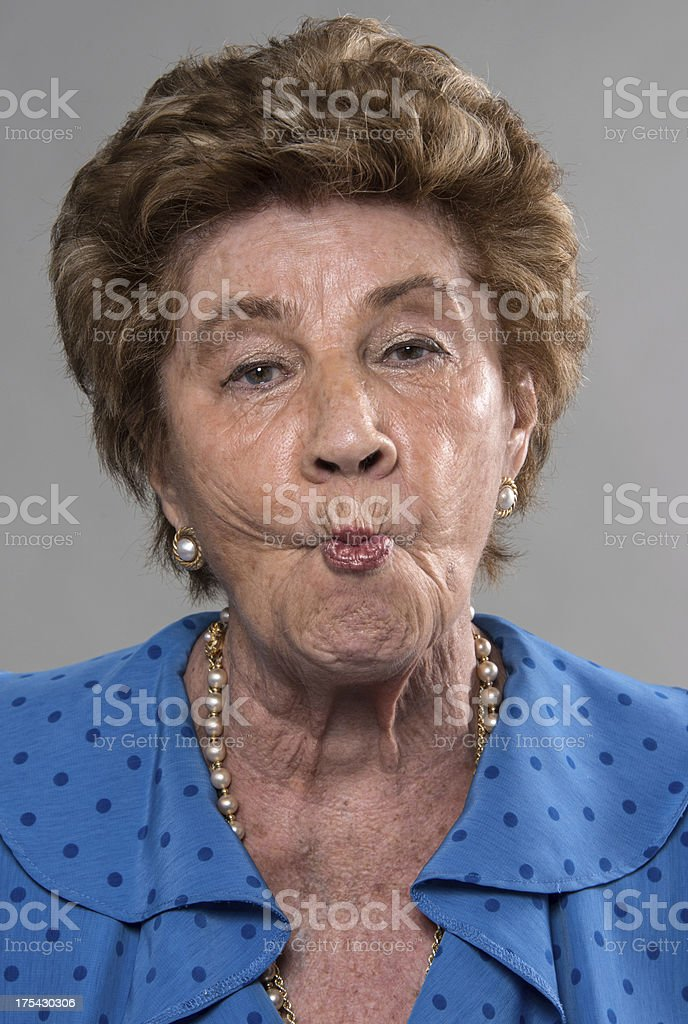 eighty years old lady stock photo