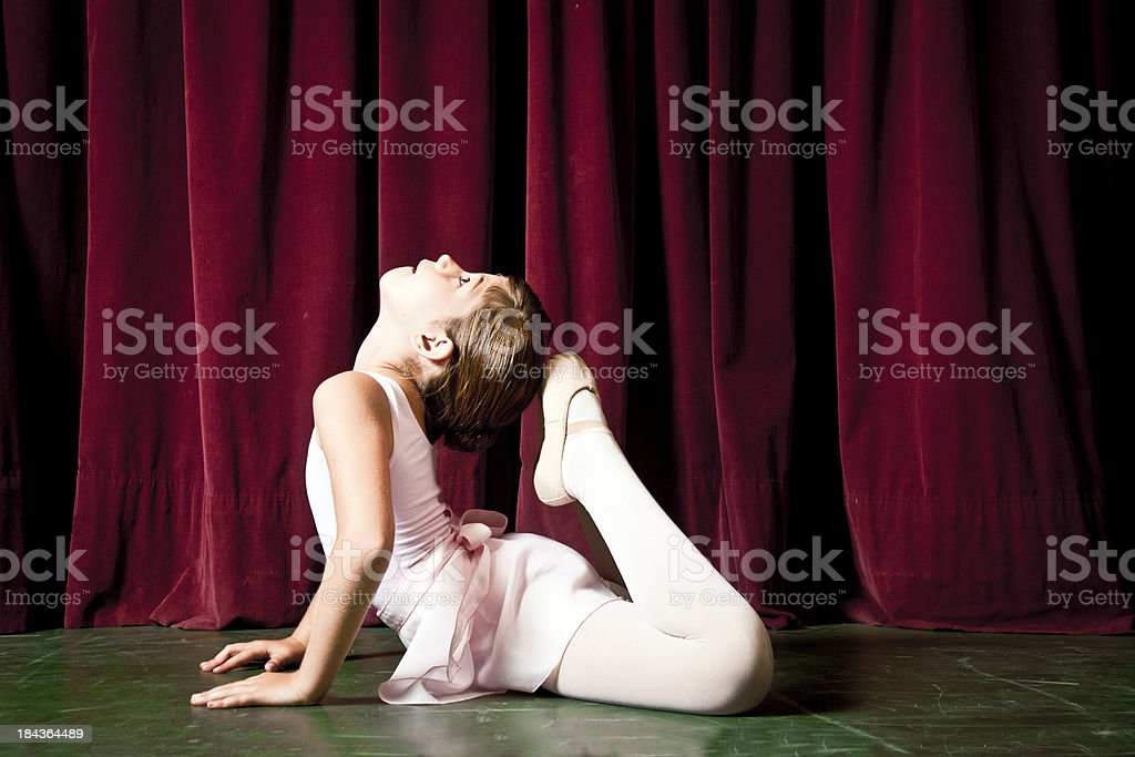 Arabesque Position Ballet Curtain Dancing Theatrical Performance