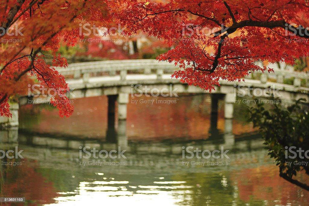 Eikando Temple in Kyoto, Japan stock photo