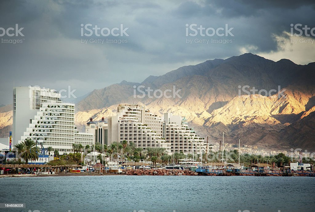 Eilat at sunset royalty-free stock photo