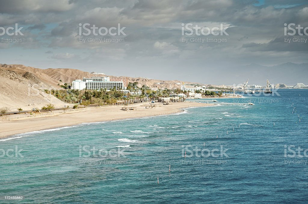 Eilat coastline royalty-free stock photo