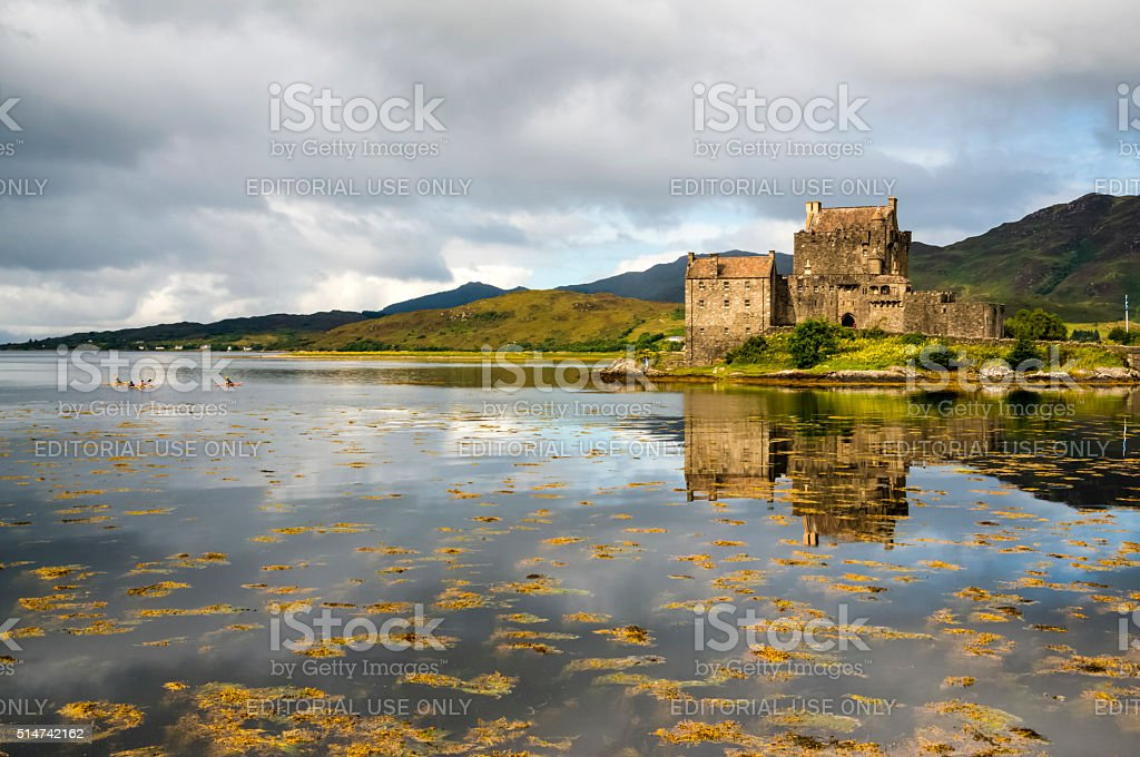 Eilean Donan Castle 2nd September 2015 stock photo