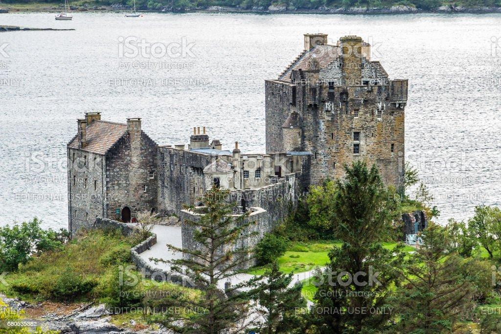 Eilean Donan castle at Scottish highlands stock photo