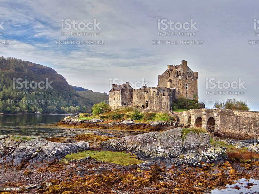 Eilean Donan castle in the Kintail district of Scotland stock photo