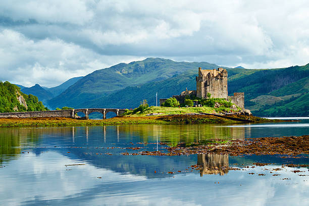 Eilean Donan Castle Summer Scenic stock photo