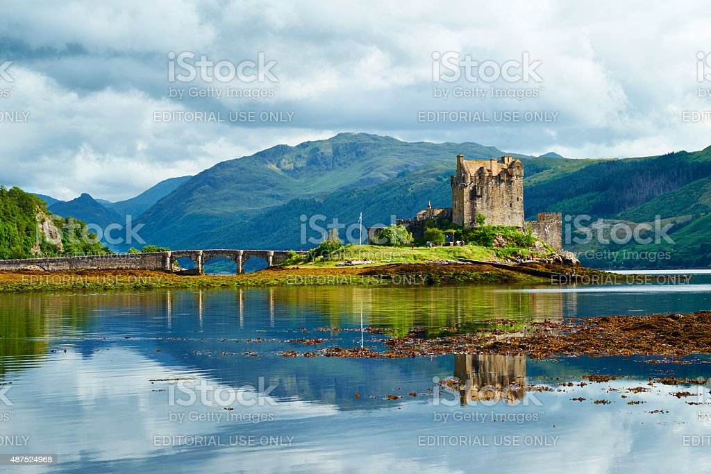 Eilean Donan Castle Summer Scenic stock photo