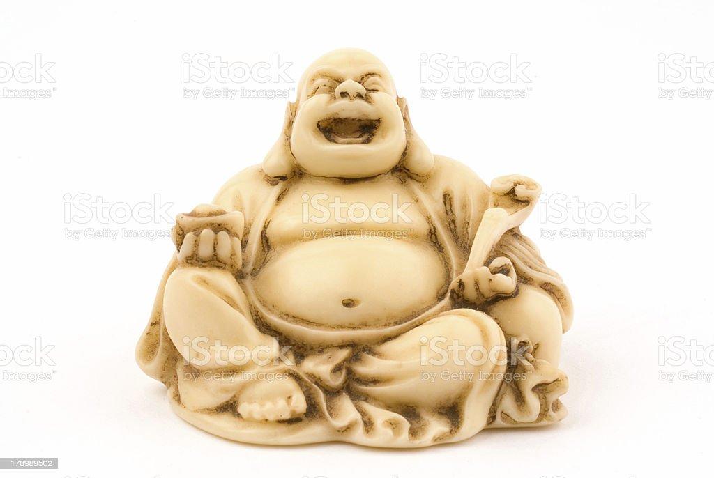 ein buddha lacht royalty-free stock photo